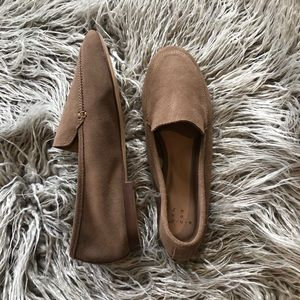 Tan Suede Material Loafers